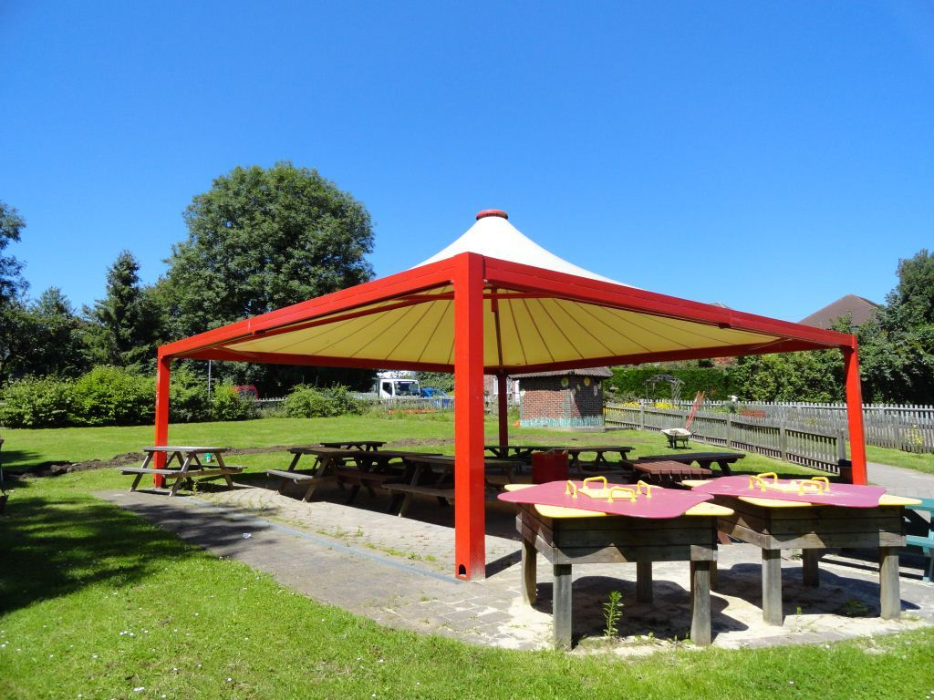 Create an outdoor workspace with an attractive playground canopy! & Canopies - Utility Rentals