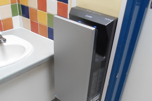 Perry Court Primary School saves money on hand drying