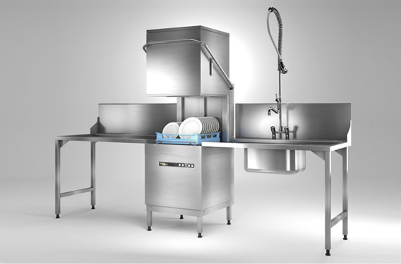 Reliable, affordable commercial warewashers for school kitchens