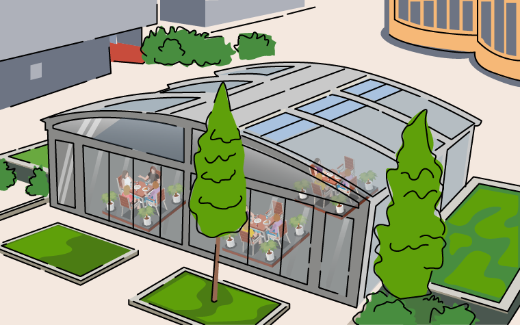 Eating out: How school dining canopies can help overcrowded schools